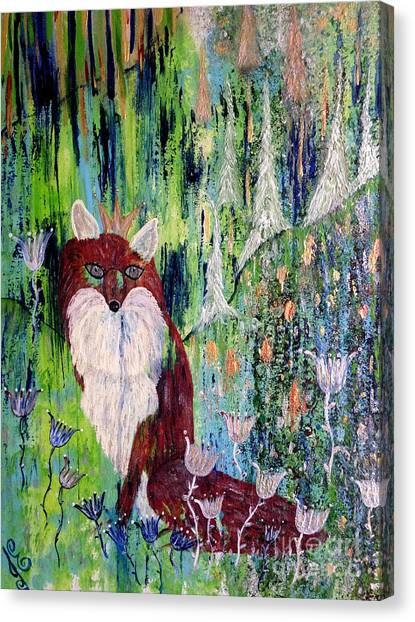 Fox Tale Canvas Print