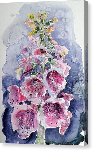 Foxglove Flowers Canvas Print - Foxglove by Kovacs Anna Brigitta