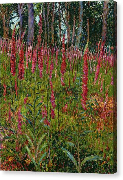 Jardin Canvas Print - Foxgloves by Georges Lacombe