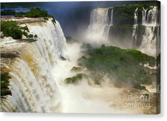 Iguazu Falls Canvas Print - Foz Do Iguacu 1 by Bob Christopher