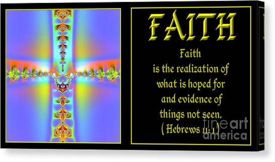 Canvas Print featuring the digital art Fractal Faith Hebrews 11 by Rose Santuci-Sofranko