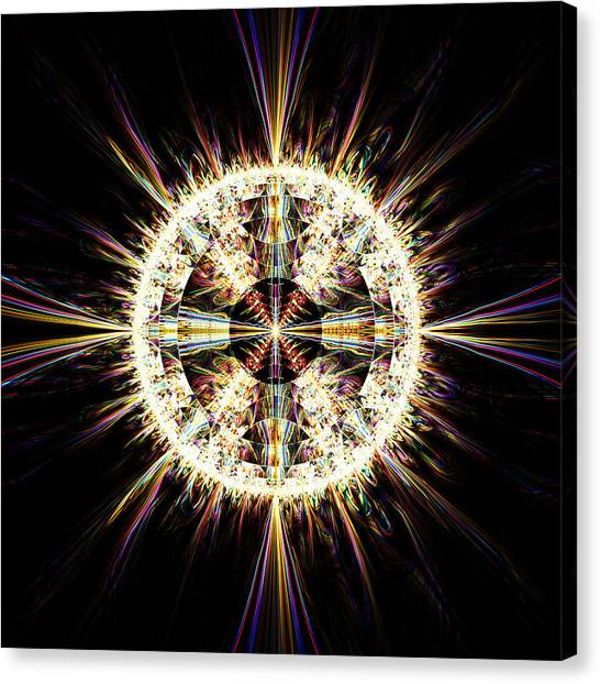 Canvas Print featuring the digital art Fractal Jewel by Bee-Bee Deigner