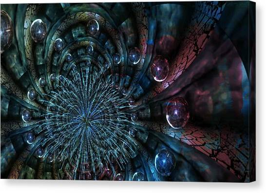 Fractal Moons Canvas Print
