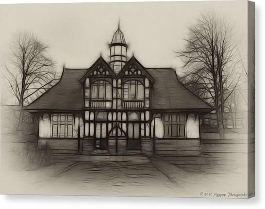 Fractal Pavilion Canvas Print by David J Knight