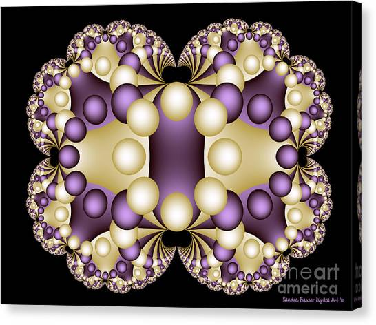 Canvas Print featuring the digital art Fractal Pearls by Sandra Bauser Digital Art