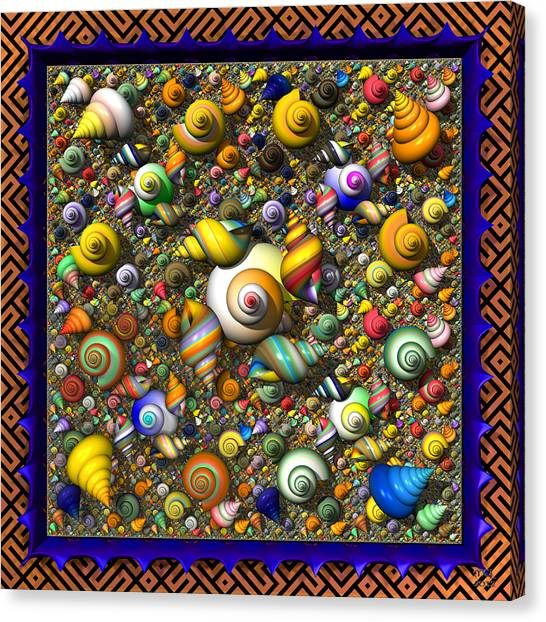 Fractal Shell Collector Canvas Print