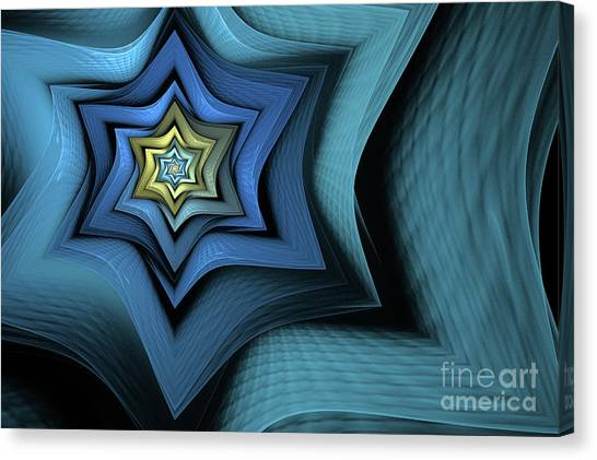 Apophysis Canvas Print - Fractal Star by John Edwards