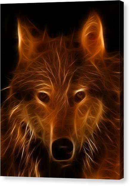 Fractal Wolf Canvas Print