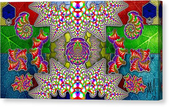 Fractaleaf Canvas Print by Andrew Murray