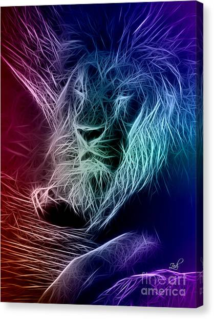 Fractalius Lion Canvas Print