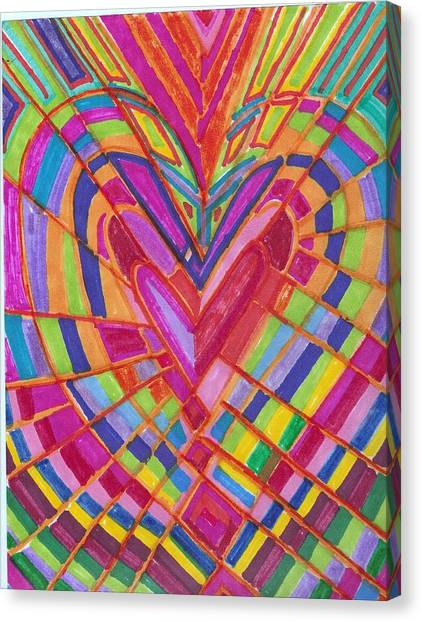Fractured Heart Canvas Print by Brenda Adams