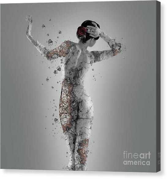 Abstract Nude Canvas Print - Fragile by Erik Brede