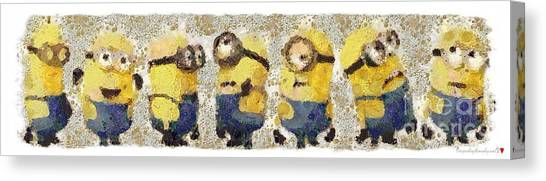 Fragmented And Still In Awe Congratulations Minions Canvas Print