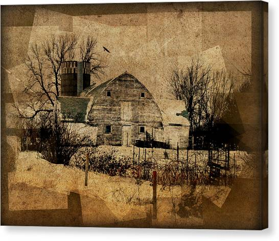 Fragmented Barn  Canvas Print