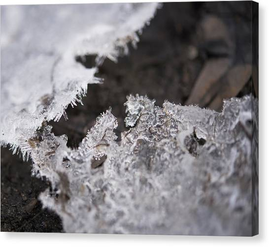 Fragmented Ice Canvas Print