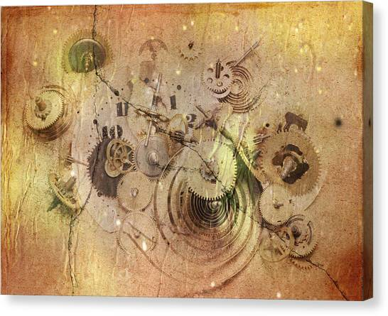Fragmented Time Canvas Print