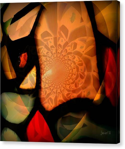 Fragments From A Glass Heart Canvas Print by Fania Simon