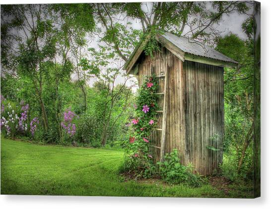Rural Canvas Print - Fragrant Outhouse by Lori Deiter