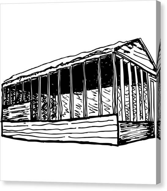 Framed House Canvas Print by Karl Addison