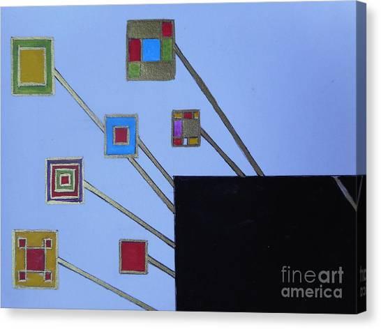 Framed World Canvas Print