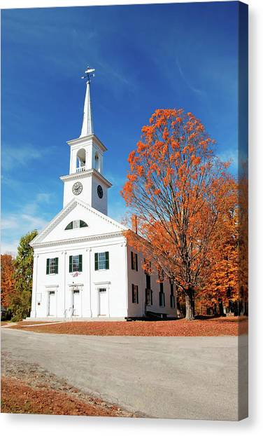Francestown Meeting Canvas Print