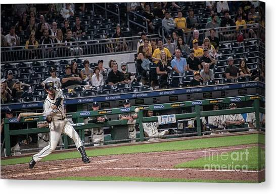 Pittsburgh Pirates Canvas Print - Francisco Cervelli by David Bearden