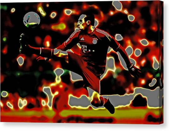 Ligue 1 Canvas Print - Franck Ribery  by Brian Reaves