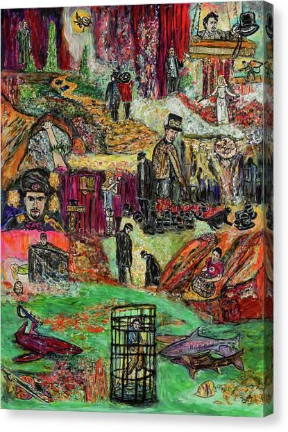 James Franco Canvas Print - Franco Master Magician  by Lindsay Strubbe