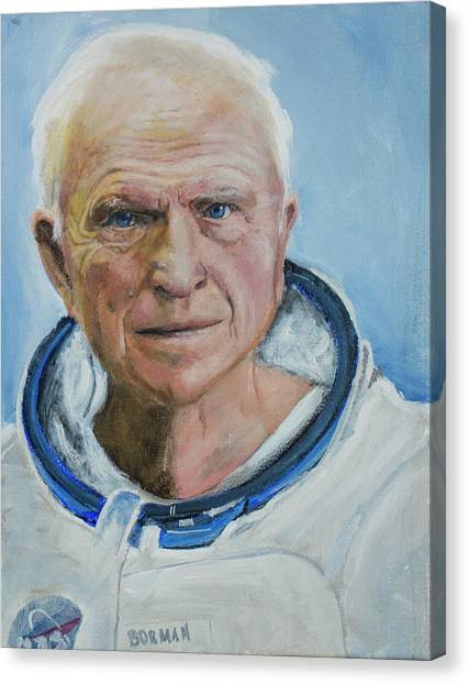 Frank Borman Canvas Print by Simon Kregar