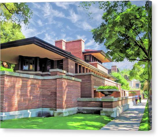Hyde Park Canvas Print - Frank Lloyd Wright Robie House by Christopher Arndt