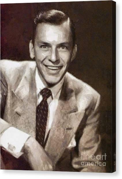 Frank Sinatra Canvas Print - Frank Sinatra By Mary Bassett by Mary Bassett