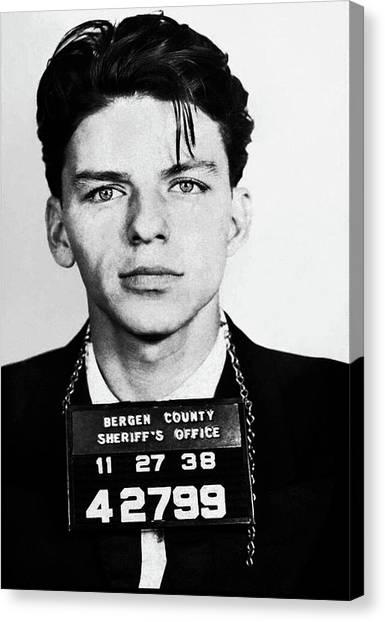 Frank Sinatra Mugshot Canvas Print