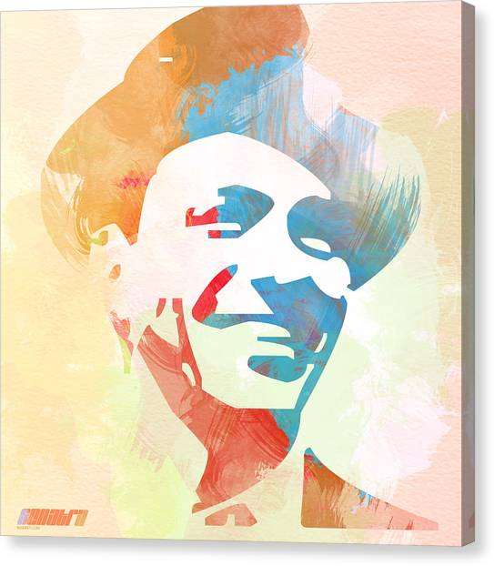 Jazz Canvas Print - Frank Sinatra by Naxart Studio