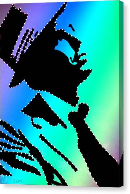 Frank Sinatra Over The Rainbow Canvas Print