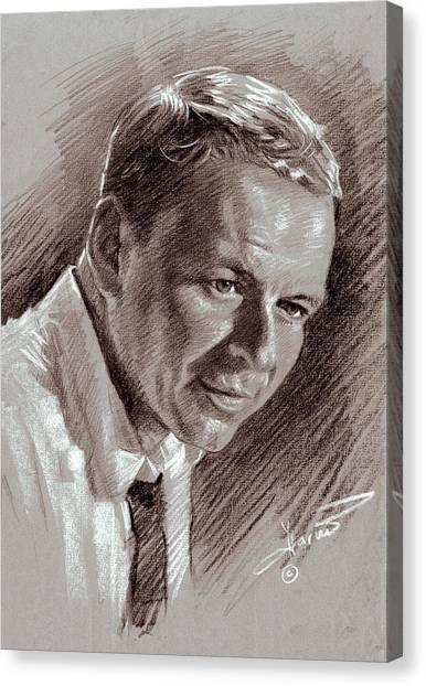 Frank Sinatra Canvas Print - Frank Sinatra  by Ylli Haruni