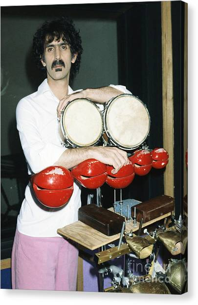 Chris Walter Canvas Print - Frank Zappa 1982 by Chris Walter