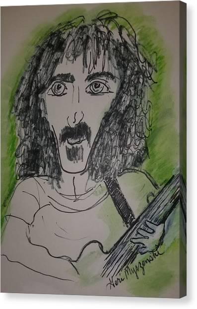 Frank Zappa Canvas Print - Frank Zappa  by Geraldine Myszenski