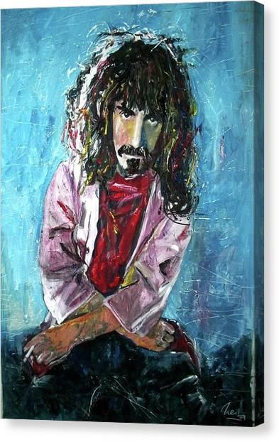 Frank Zappa Canvas Print - Frank Zappa by Marcelo Neira