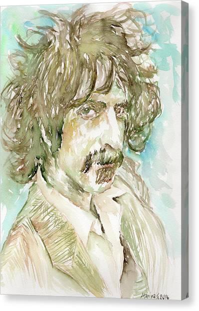 Frank Zappa Canvas Print - Frank Zappa by Marina Sotiriou
