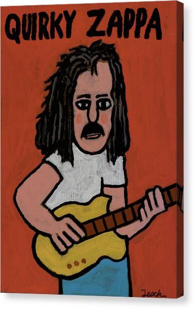 Frank Zappa Canvas Print - Frank Zappa by Mike Tesch