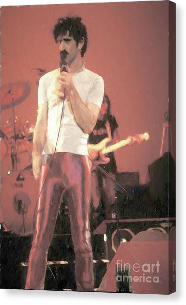 Frank Zappa Canvas Print - Frank Zappa Painting by Concert Photos