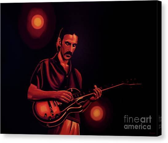 Rhythm Canvas Print - Frank Zappa 2 by Paul Meijering