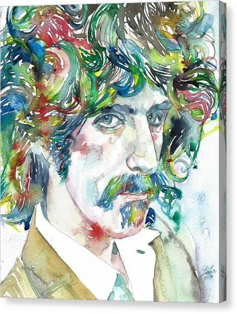 Frank Zappa Canvas Print - Frank Zappa Portrait by Fabrizio Cassetta