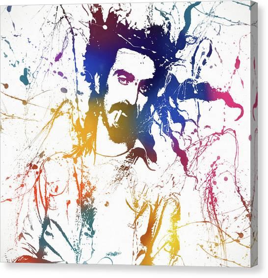 Frank Zappa Canvas Print - Frank Zappa Splatter by Dan Sproul