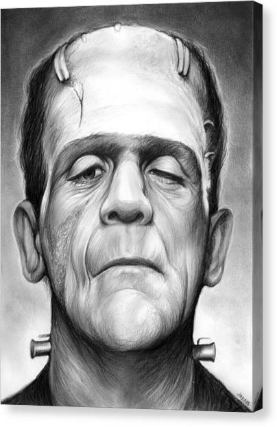 Horror Canvas Print - Frankenstein by Greg Joens