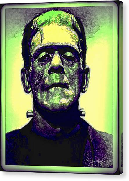 Frankenstein In Color Canvas Print
