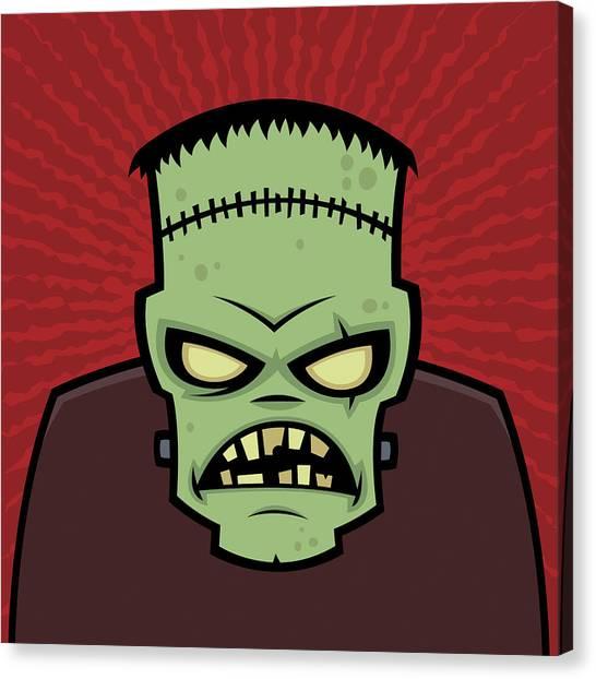 Monsters Canvas Print - Frankenstein Monster by John Schwegel