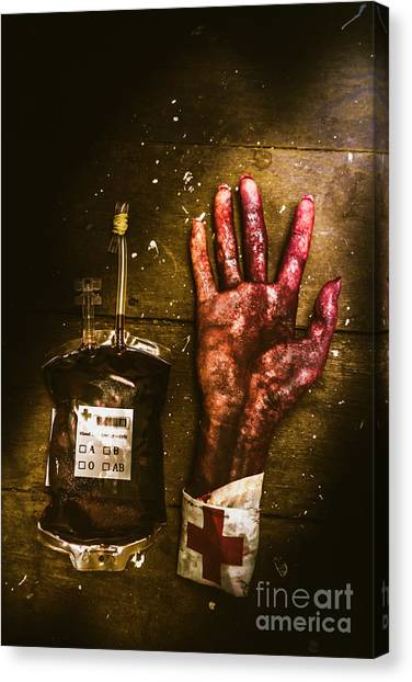 Medicine Canvas Print - Frankenstein Transplant Experiment by Jorgo Photography - Wall Art Gallery