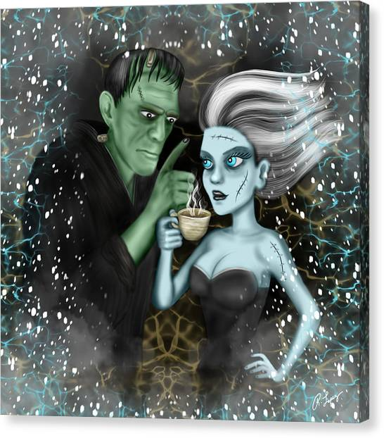 Frankenstien Fantasy Art Canvas Print