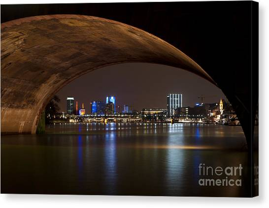 Frankfurt By Night Canvas Print
